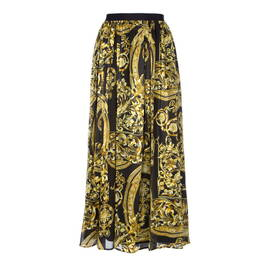 MARINA RINALDI BAROQUE PRINT SILK SKIRT - Plus Size Collection