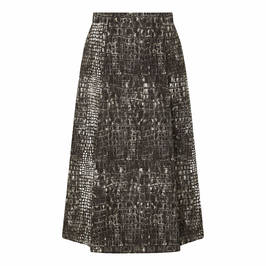 MARINA RINALDI CROCODILE PRINT TAFFETA SKIRT - Plus Size Collection