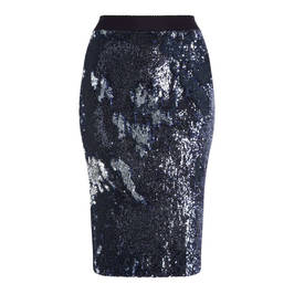 MARINA RINALDI NAVY SEQUIN PENCIL SKIRT - Plus Size Collection