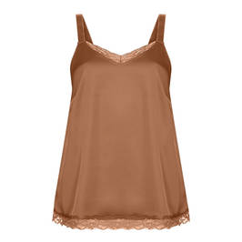 MARINA RINALDI SPORT SATIN CAMISOLE CARAMEL - Plus Size Collection