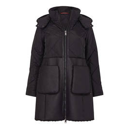 MARINA RINALDI FAUX-SHEEPSKIN PADDED COAT - Plus Size Collection