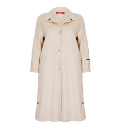 MARINA RINALDI CREAM DOUBLE FACE COAT - Plus Size Collection
