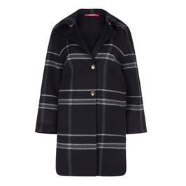 MARINA RINALDI CHECK WOOL BLEND COAT - Plus Size Collection
