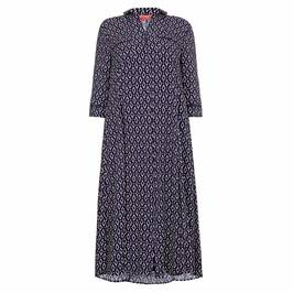 MARINA RINALDI NAVY PRINT DRESS - Plus Size Collection