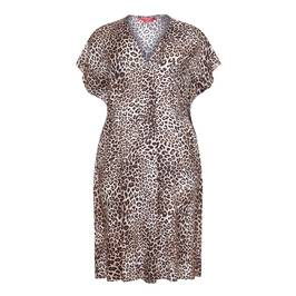 MARINA RINALDI LEOPARD PRINT DRESS - Plus Size Collection