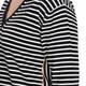 MARINA RINALDI V-NECK BLACK AND WHITE STRIPE SWEATER
