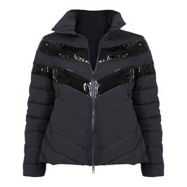 MARINA RINALDI SHORT PUFFER BLACK - Plus Size Collection
