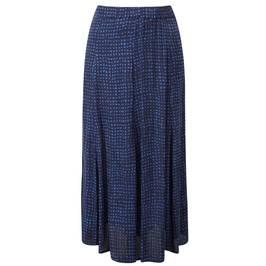 Marina Rinaldi BLUE CHECK MAXI SKIRT - Plus Size Collection