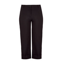 MARINA RINALDI WIDE-LEGGED CROPPED TROUSERS BLACK - Plus Size Collection