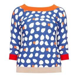 MARINA RINALDI PRINTED SWEATER - Plus Size Collection