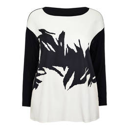 MARINA RINALDI ABSTRACT PRINT TOP - Plus Size Collection