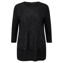 Marina Rinaldi black lace overlay SWEATER - Plus Size Collection