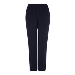 MARINA RINALDI NAVY PULL ON FRONT CREASE TROUSER  - Plus Size Collection