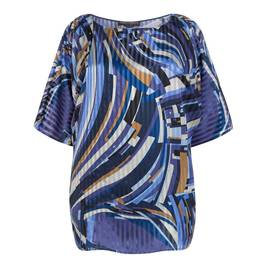 MARINA RINALDI ABSTRACT PRINT TUNIC - Plus Size Collection