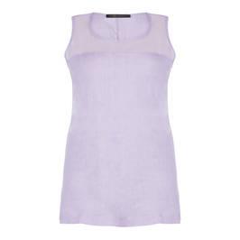 MARINA RINALDI SLEEVELESS ROUND NECK LINEN TUNIC - Plus Size Collection