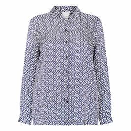 MARINA RINALDI VOYAGE TILE PRINT TWILL SHIRT - Plus Size Collection