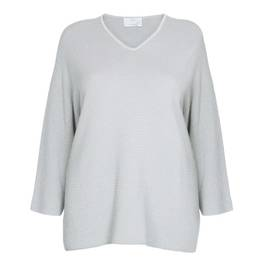 MARINA RINALDI COTTON AND LUREX SWEATER - Plus Size Collection