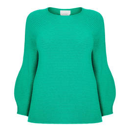MARINA RINALDI WOOL AND CASHEMERE SWEATER GREEN - Plus Size Collection