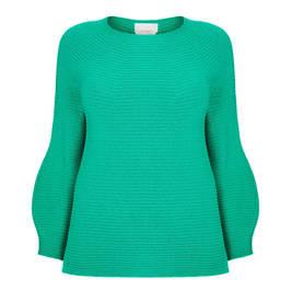 MARINA RINALDI WOOL AND CASHEMERE SWEATER GREEN - Plus Size Collection