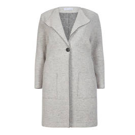 MAXIMA BOILED WOOL COAT GREY - Plus Size Collection
