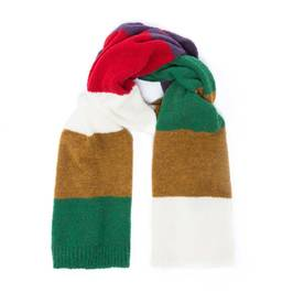 MAXIMA STRIPE WOOL BLEND SCARF - Plus Size Collection