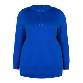 MAXIMA HOODED SWEATSHIRT COBALT - Plus Size Collection
