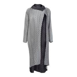 MASHIAH REVERSIBLE SILVER COAT - Plus Size Collection