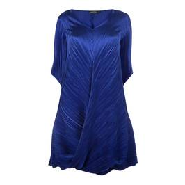 MASHIAH SATIN PLISSE TWISTED HEM DRESS - Plus Size Collection