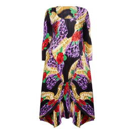 MASHIAH ROSE PRINT DRESS - Plus Size Collection