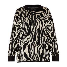 ELENA MIRO ZEBRA PRINT SWEATER - Plus Size Collection