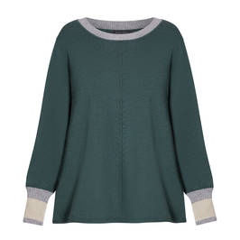 ELENA MIRO PURE WOOL SWEATER GREEN - Plus Size Collection