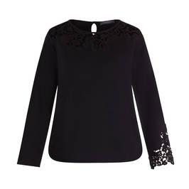 ELENA MIRO WOOL BLEND SWEATER BLACK - Plus Size Collection