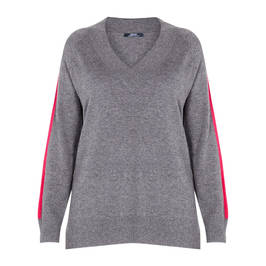ELENA MIRO WOOL SWEATER GREY - Plus Size Collection