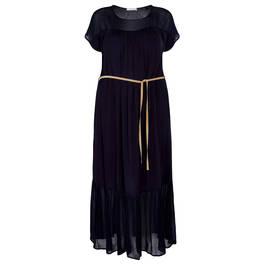 LUISA VIOLA LONG DRESS BLACK - Plus Size Collection