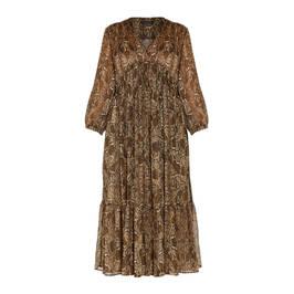 ELENA MIRO SNAKE PRINT DRESS - Plus Size Collection