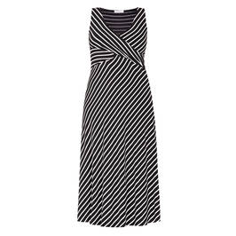 ELENA MIRO STRETCH JERSEY CROSSOVER DRESS - Plus Size Collection