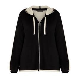 ELENA MIRO HOODY BLACK - Plus Size Collection