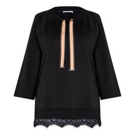ELENA MIRO KNITTED TUNIC BLACK - Plus Size Collection