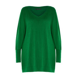 ELENA MIRO KNITTED TUNIC GREEN - Plus Size Collection