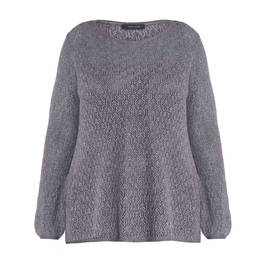ELENA MIRO KNITTED TUNIC GREY - Plus Size Collection
