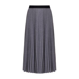 LUISA VIOLA  PLEATED MAXI SKIRT GREY - Plus Size Collection
