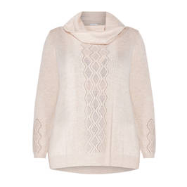 PIAZZA DELLA SCALA SWEATER WITH CROCHET DETAIL BLONDE - Plus Size Collection