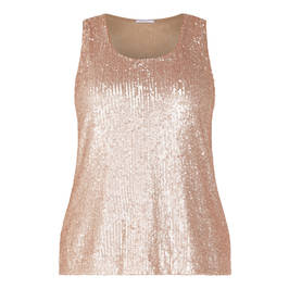 ELENA MIRO SEQUIN VEST GOLD - Plus Size Collection