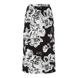 PIERO MORETTI STRETCH JERSEY PRINT SKIRT MONOCHROME - Plus Size Collection
