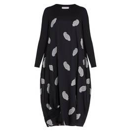 PIERO MORETTI PAISLEY DRESS BLACK - Plus Size Collection