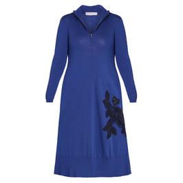 PIERO MORETTI WOOL DRESS BLUETTE - Plus Size Collection