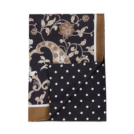 PIERO MORETTI SILK AND WOOL BLEND STOLE BRONZE PAISLEY - Plus Size Collection