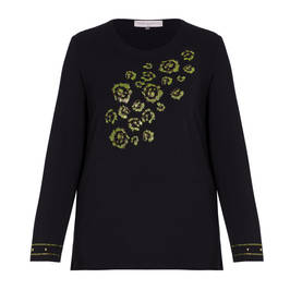 PIERO MORETTI EMBELLISHED SWEATER  - Plus Size Collection