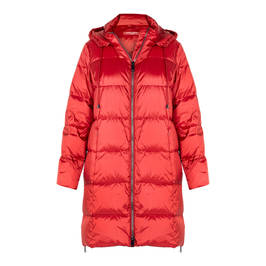 MARINA RINALDI GABERDINE DOWN JACKET RED - Plus Size Collection