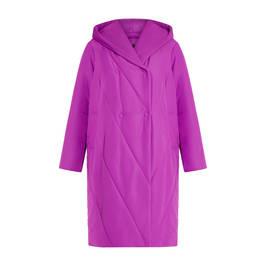 MARINA RINALDI QUILTED COAT MAGENTA - Plus Size Collection